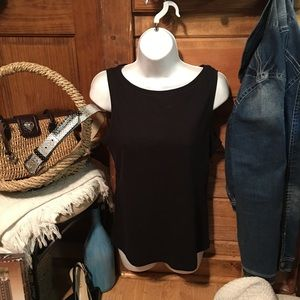 🆕TALBOTS Nice black top NWT 100 % cotton